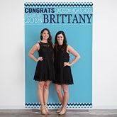 Personalized Photo Backdrop - Graduation Party - 18658
