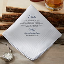Personalized Wedding Handkerchief - Father of the Bride - 18683