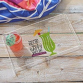 Personalized Acrylic Serving Trays - Happy Hour - 18692