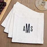 Personalized Cloth Cocktail Napkins - Classic - 18694