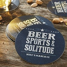Personalized Paper Coasters - Add Any Text - 18708