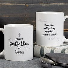 Personalized Godparents Coffee Mugs - Godfather & Godmother - 18713