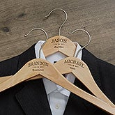Custom Engraved Wood Hangers - Wedding Party - 18733