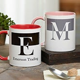 Personalized Initials Ceramic Coffee Mugs - 18740