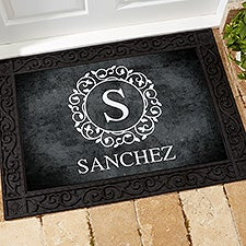 Custom Monogram Doormats - Circle & Vine - 18744
