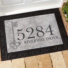 Personalized Doormats - Home Address & Vintage Key - 18745