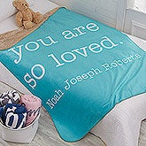 Kids Expressions Personalized Sherpa Blankets - 18748