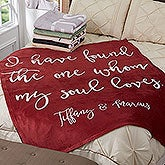 Personalized Fleece Blankets - Romantic Expressions - 18751