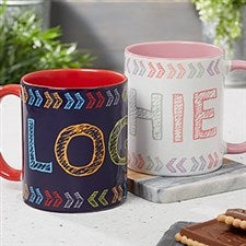 Personalized Kids Mugs - Stencil Name - 18752