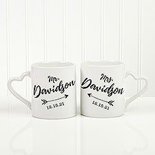 Personalized Wedding Arrow Coffee Mugs - Set of 2 - 18754