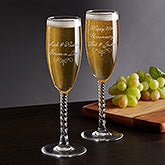 Personalized Champagne Flute - Write Your Own Text - 18756