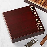 Personalized Cigar Humidor - Cherry Wood 20 Cigar Count - 18758