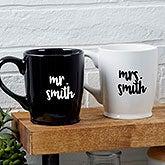 Personalized Wedding Coffee Mugs - Mr & Mrs - 18763
