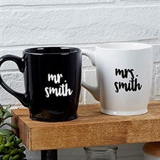 Personalized Wedding Coffee Mugs - Mr & Mrs - 18763