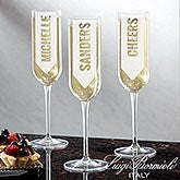 Personalized Modern Champagne Flutes - 18764