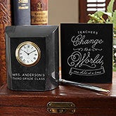 Personalized Teacher Gift - Change The World Clock - 18782