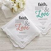Personalized Handkerchief - Faith Hope Love - 18788