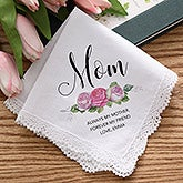 Personalized Handkerchief - Ladies Floral Design - 18789