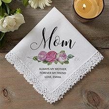 Personalized Handkerchief - Ladies Floral Design - 18789