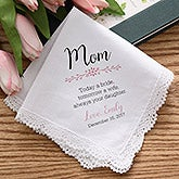Personalized Wedding Handkerchief - Mother of the Bride - 18790