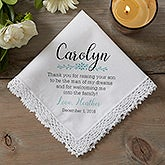 Personalized Wedding Handkerchief - Mother of the Groom - 18792