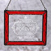 Teaching Touches Lives Personalized Suncatcher - 18805