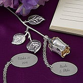 Happy Couple Engraved Silver Keepsake Rose - 18809