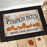 Personalized Halloween Doormats - Pumpkin Patch - 18833