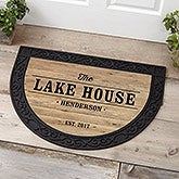 Personalized Half Round Doormat - Home Away From Home - 18838
