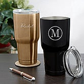 Personalized Stainless Steel Travel Mugs - Name & Monogram - 18849