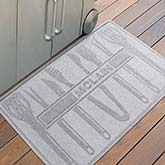 Personalized AquaShield Doormat - BBQ Tools - 18852D