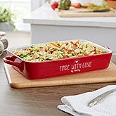 Personalized Stoneware Baking Dish - Red - 18860