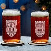 Beer Can Glasses - Custom Engraved Beer Label - 18870