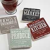 Farmhouse Style Personalized Stone Coasters - 18877