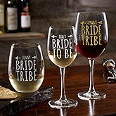 Bride Tribe Personalized Wine Glasses - 18879
