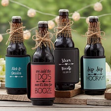 Personalized Coozies - Wedding Can & Bottle Wraps - 18885