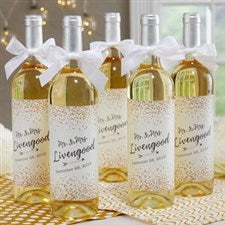 Personalized Wine Labels For Wedding - Sparkling Love - 18887