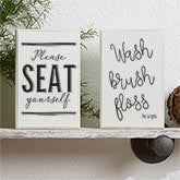 Bathroom Art - Personalized Shelf Blocks - 18903