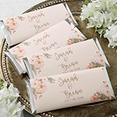 Personalized Candy Bar Wrappers - Modern Floral - 18917