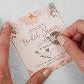 Personalized Bridal Shower Games - Modern Floral - 18918