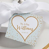 Sparkling Love Personalized Wedding Gift Tags