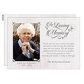 Personalized Photo Bereavement Cards - In Loving Memory - 18933