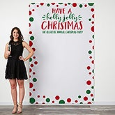 Personalized Holiday Photo Backdrop - Holly Jolly Christmas - 18936