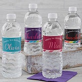 Personalized Water Bottle Labels - Birthday Girl - 18943