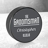 Personalized Hockey Puck for Wedding Party - 18955