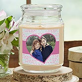 Personalized Photo Candle - Love You This Much - 18961