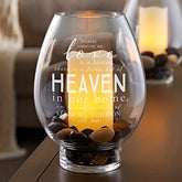 Memorial Engraved Glass Hurricane Candle Holder - 18962