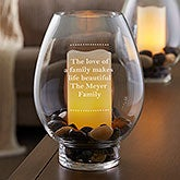 Engraved Hurricane Candle Holders - Add Any Text - 18965