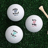 Personalized Golf Balls - Wedding Gift - 18968