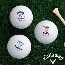 Personalized Golf Balls - Wedding Gift - 18968